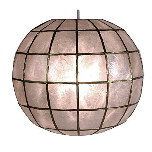 (Oriental Furniture Princess Capiz Hanging Lamp)