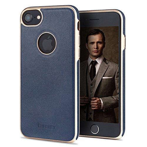 ICHECKEY iPhone 7 Case Premium PU Leather Built...