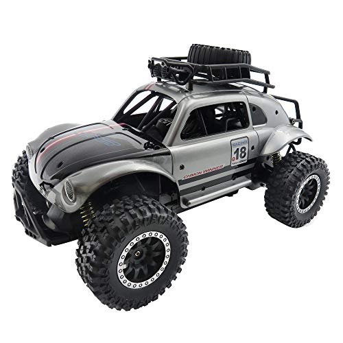 (Kanzd Remote Control RC Cars 1/14 2.4G 25km/H Independent Suspension Off Road Crawler (Silver))