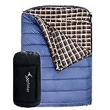 "Sportneer -18C/0F Sleeping Bag, 94"" x 62"" BONUS Compression Sack for Camping Hiking"