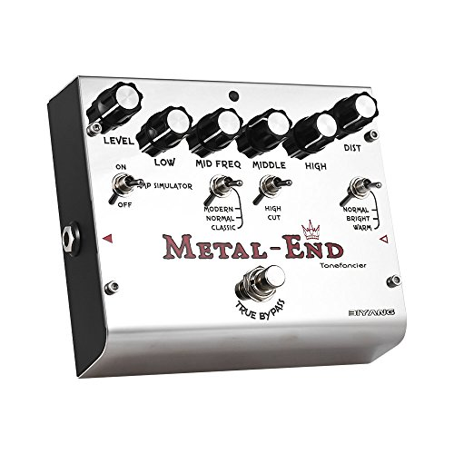 ammoon BIYANG METAL-END King High Gain Distortion Effect Pedal Built-in Amplifier Simulator EQ With True Bypass Full Metal Shell