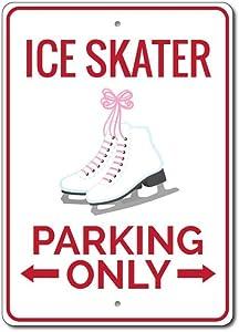 Ice Skater Parking Sign, Ice Skater Gift Sign, Ice Skater Sign, Ice Skating Decor, Ice Skate Decor, Ice Skates Aluminum Sign - 10
