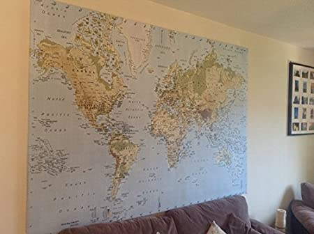 New Ikea Premiar World Map Picture with Frame/canvas Large ...