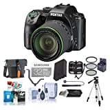 Pentax K-70 24MP Full HD DLR Camera with SMC DA 18-135mm f/3.5-5.6 ED AL DC WR Lens, Black - Bundle with Holster Case, Spare Battery, Tripod, 62mm Filter Kit, Cleaning Kit, Software Package and More