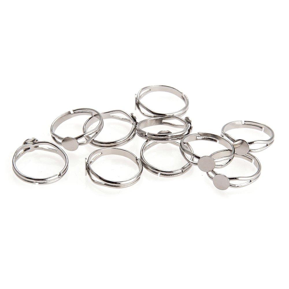 10X 6mm Ring Ringschiene Rohling zum Basteln Versilbert power online