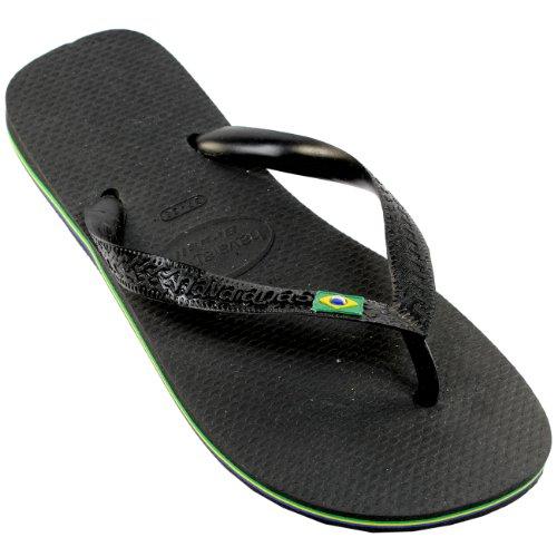 Womens Havaianas Brasil Flip-flop Sandalen 4-9 Zwart
