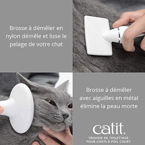 CAT IT Kit de toilettage pour chats à poils courts