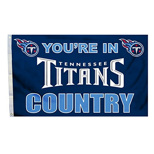 NFL Tennessee Titans In Country Flag with Grommets, 3 x 5-Foot