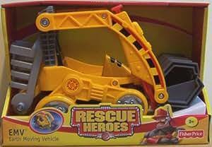 Amazon Com Rescue Heroes Emv Earth Moving Vehicle Toys