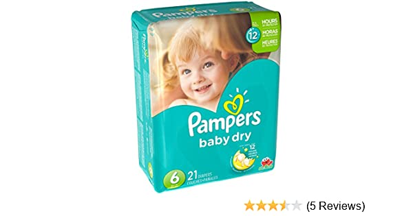 Amazon.com: Pampers Baby Dry Diapers - Size 6 - 21 ct: Health & Personal Care