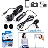 236'' BOYA BY-M1 Omnidirectional Lavalier Condenser Recording Microphone for Canon Nikon Sony iPhone 8 8 plus 7 7 plus 6 6s Plus DSLR Camcorder Audio Recorder Youtube Podcast Interview Video