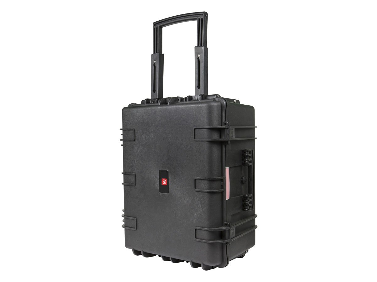 """Monoprice Weatherproof / Shockproof Hard Case with Wheels - Black IP67 level dust and water protection up to 1 meter depth with Customizable Foam, 26"""" x 20"""" x 14"""""""