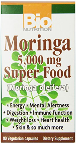 Bio Nutrition Moringa Super Food Vegi-Caps, 90 Count For Sale