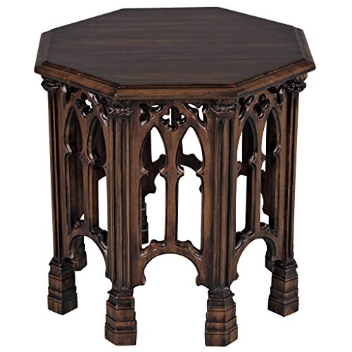 Design Toscano Gothic Revival Octagonal Side Table ()