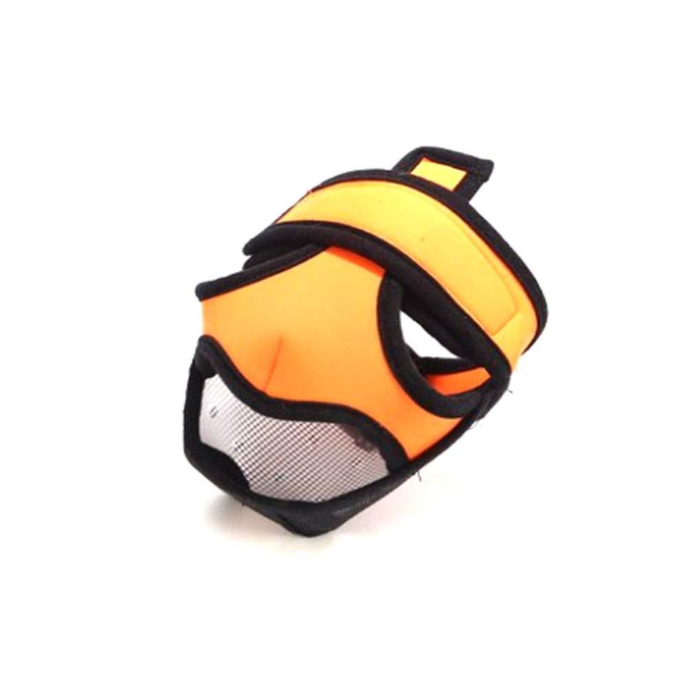orange XS orange XS Dog Mouth Cover, orange Flat face Dog Anti-Biting Special Mouth Cover, Helmet All-Inclusive Bulldog Special Mouth Cover (orange, Black, XS) (color   orange, Size   XS)