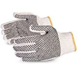 Superior SCP2D Sure-Grip Cotton/Polyester 2 Side PVC Dots String Knit Glove, Work, 7 Gauge Thickness, X-Large, Natural (Pack of 1 Dozen)