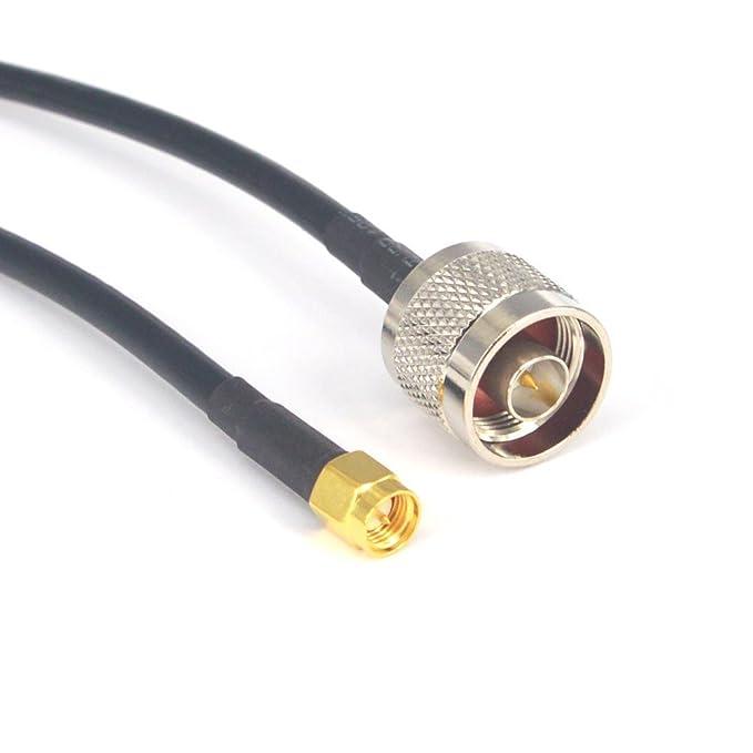 Alargador de antena N Macho a SMA macho Enchufe 5 m RG58 Coaxial Cable Pigtail para CB aficionados Two-way radio 3 G 4 G LTE jamón ADS-B GPS Radio RF para ...