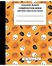 College Ruled Composition NoteBook: 200 x Wide-Ruled White Pages