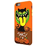Switcheasy MONSTERS 3D Anti-Scratch TPU Case with Native Touch Tactile Buttons for iPhone 6s Plus (Spooky (Orange))