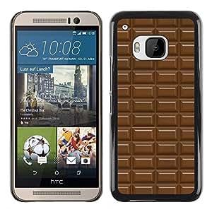 FlareStar Colour Printing Chocolate Bar Pattern Brown Sweet cáscara Funda Case Caso de plástico para HTC One M9