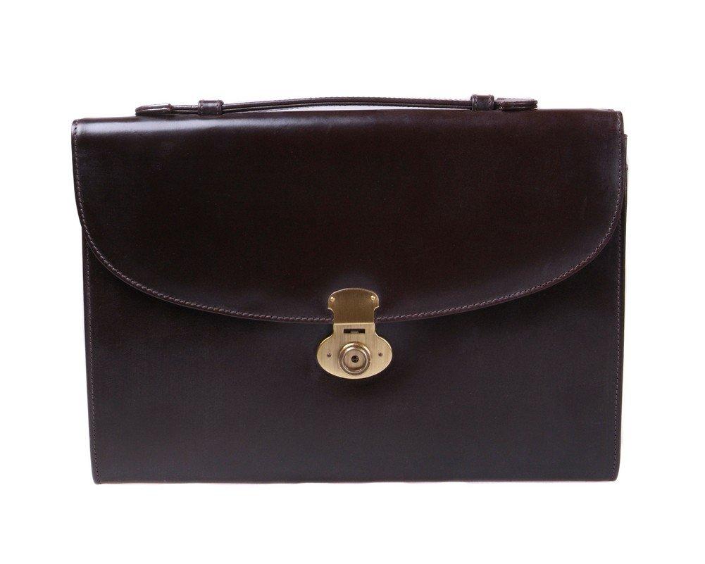 SAGEBROWN Chestnut Bridle Windsor Briefcase