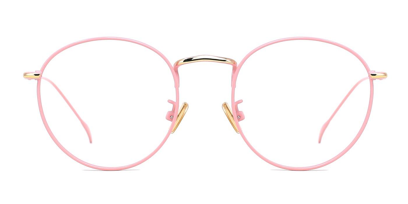 bead901fe073 TIJN Retro Round Thin Metal Frame Clear Lens Gold Rim Eyeglasses For Women  black 00015201 Xmas