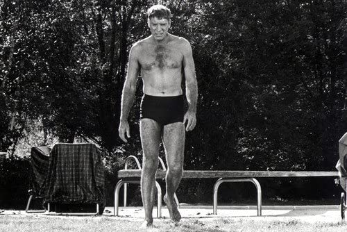 The Swimmer Burt Lancaster 24x36 Poster Bare Chested full length in back yard at Amazon's Entertainment Collectibles Store