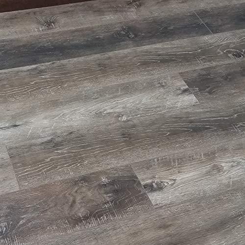 Turtle Bay Floors Waterproof Click WPC Flooring - Rustic Sawn Hardwood-Look Floating Floor - Choose from 2 Colors (by The CASE, Cottage)