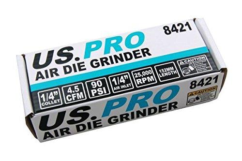 """US PRO1//4/"""" Air Die Grinder Grinding Porting DeBurring Tool 22000rpm 8421"""