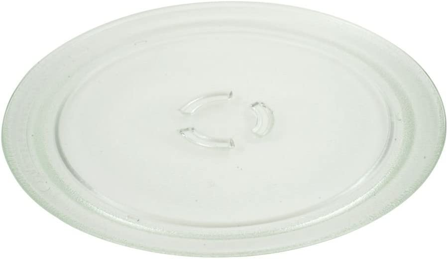 AP3130793 - FACTORY OEM ORIGINAL WHIRLPOOL KENMORE MAYTAG MICROWAVE GLASS COOK TRAY (This Tray Has 3 Partial Circle Where It Connects To Gear - Glass