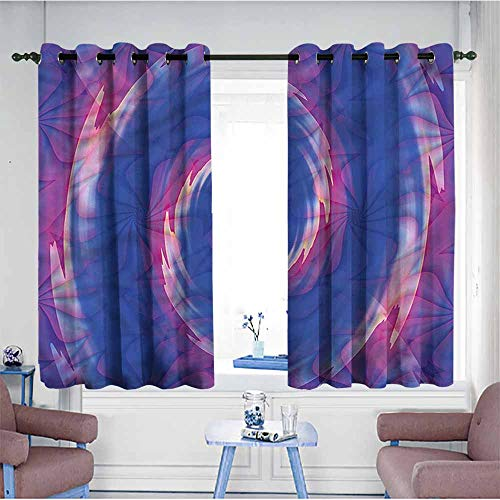 Mdxizc Fashion Curtain Spires Ombre Bohemian Batik Durable W72 xL45 Suitable for Bedroom,Living,Room,Study, - Sport Satin Ombre Yarn