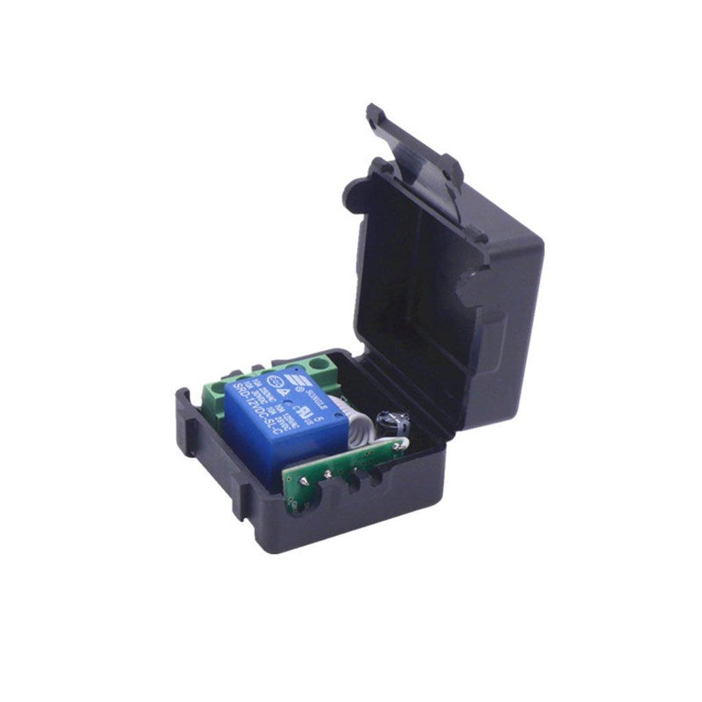 siwetg DC 12V 1CH Rel/é M/ódulo Receptor Transmisor De RF 433 MHz Interruptor De Control Remoto Inal/ámbrico