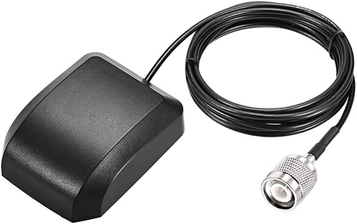 uxcell GPS Active Antenna TNC Male Plug 34dB Aerial Connector Cable with Magnetic Mount 3 Meters Wire L
