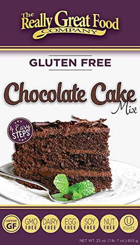 Cooking Chocolate Cake - Really Great Food Company – Gluten Free Chocolate Cake Mix – 23 ounce box - No Nuts, Soy, Dairy, Eggs - Vegan Kosher and Non-GMO