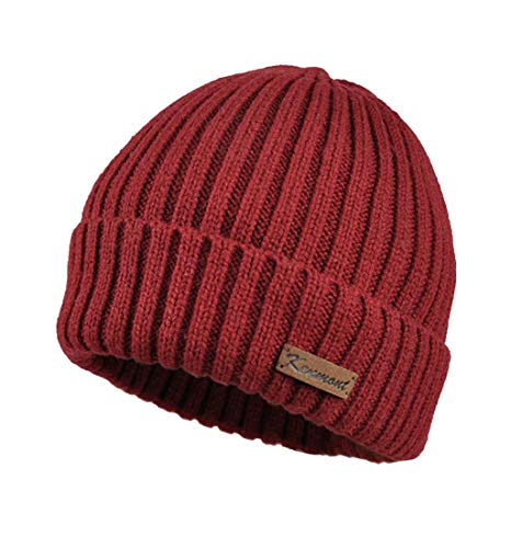 Donna Spesso Red Da colore Inverno Casual Ynn Caldo Gray Bretelle Cappello E Con zwx157qn6