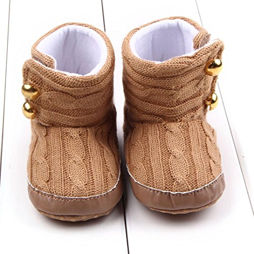 kingko® Bébé Tout nourrisson Fille Bottes de neige molle Sole prewalker Crib Shoes