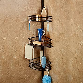 Amazon.com: Oversized 3-Tier Pole Shower Caddy: Home & Kitchen