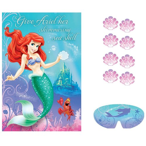 Ariel the Little Mermaid Sparkle Party Game Poster (1ct) -