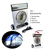 Welcomeuni Portable High speed solar fan camping fan with lamp 220V 1200mA battery charge
