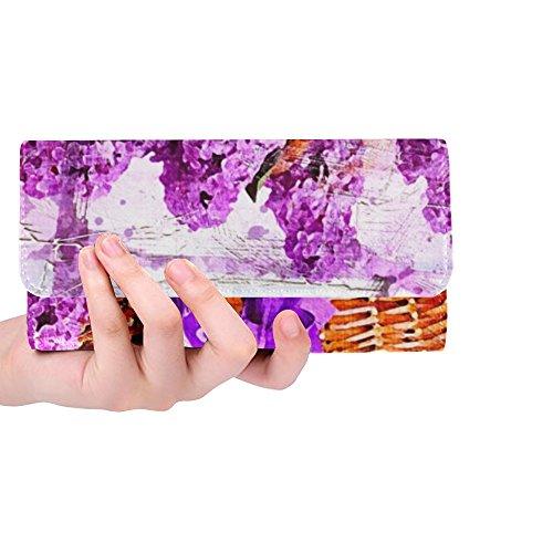Unique Custom Flowers Lilac Basket Art Nature Abstract 2478947 Women Trifold Wallet Long Purse Credit Card Holder Case Handbag
