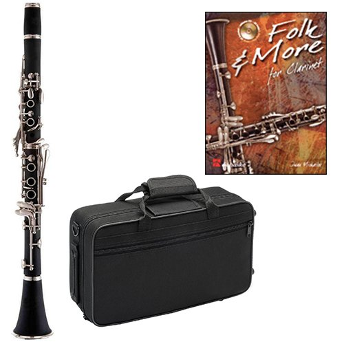 Folk & More Clarinet Pack - Includes Clarinet w/Case & Accessories & Folk & More Play Along ()