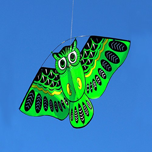 Green Owl Kite With Handle Line Outdoor Toys Colorful Birds Flagship Store, Weifang Simulation Bat Little (Devil Man Adult Vest)