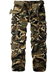 Women's Cargo Tactical Wild Casual Military Combat Cargo Work Camo Hiking Pants with 8 Pockets