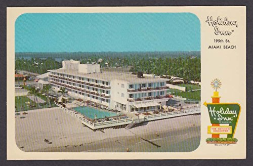 Holiday Inn 19505 Collins Ave & 195th St Miami Beach FL postcard 1960s from The Jumping Frog