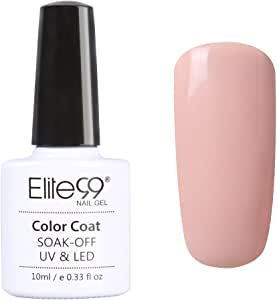 Elite99 UV LED Gel Nail Polish Soak off Vanish Shiny Nail Art 10ml Nude Color Range (001)