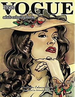 Vogue 1950s Adult Coloring Book 50s Fashion For Adults Books
