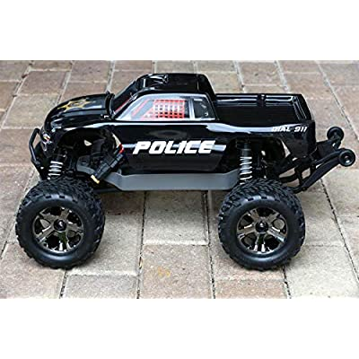 SummitLink Compatible Custom Body Police Style Replacement for 1/10 Scale RC Car or Truck (Truck not Included) ST-PB-01: Toys & Games