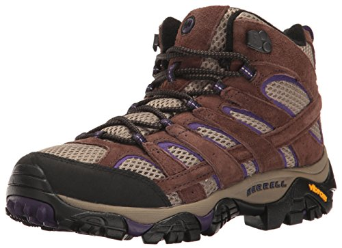 Merrell Womens Moab 2 Vent Mid Hiking Boot Bracken/Purple