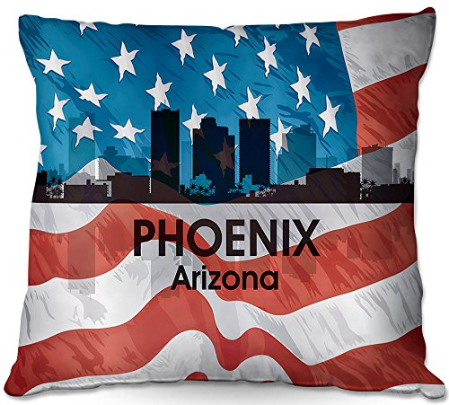 Cheap  DiaNoche Designs ODP-AngelinaVickCityVIPhoenixAZ2 City VI Phoenix Arizona Outdoor Patio Couch Throw Pillow,..