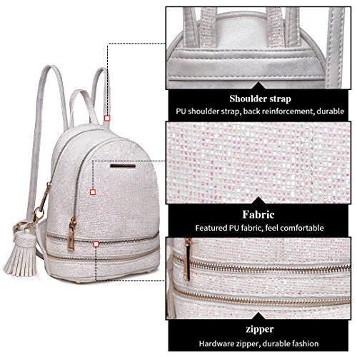 1763 PU Bag Ladies Rucksack Shoulder Fashion Backpack Lulu Beige Miss Leather qSwCzx4tU
